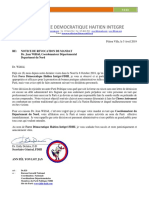 Notice de Revocation de Mandat Dr. Jean Wilfrid