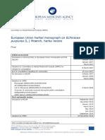 Final European Union Herbal Monograph Echinacea Purpurea l Moench Herba Recens En