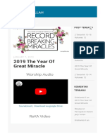 2019 the Year of Great Miracle Keluarga Allah Www.gbika.org