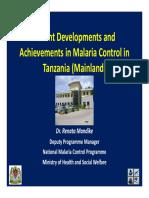 National Malaria Control Program-Tanzania Mainland