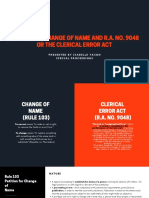 RULE 103 ON CHANGE OF NAME AND R.A. NO. 9048 OR THE CLERICAL ERROR ACT (1).pdf