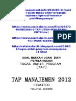 Dokumen.tips 2013 Contoh Soal Tap Manajemen