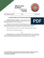 19-05 Security Incident at NAS Oceana