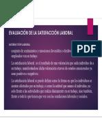 EVALUACIÓN DE SATISFACCION LABORAL