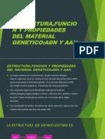 Estructura,Funcion y Propiedades Del Material Genetico