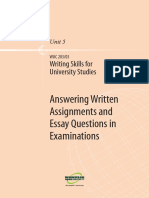 Writing Skills for Uni Studies U5