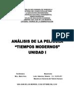 Analisis Pelicula Tiempos Modernos