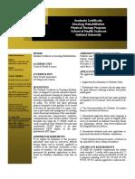 IOPHPT Online Graduate Certificate OncologyRehab 1-29-13