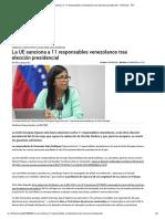 La UE Sanciona a 11 Responsables Venezolanos Tras Elección Presidencial - Américas - RFI