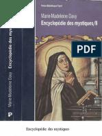 Encyclopédie des mystiques II  Marie-Madelaine Davy  -pdf text