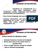 4. Business Letter Writing Ppt