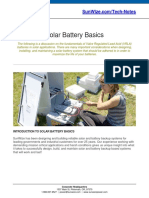 SunWize Tech Notes Solar Battery Basics