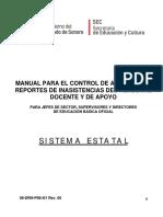 Manual Para Control de Asistencia Estatal