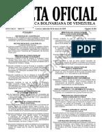 Gaceta Oficial 41602 Sumario