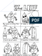 larry the leaf coloring page