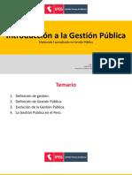 Introducción a la gestión pública
