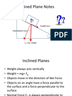 Inclined Planes and Forces Notes