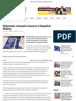 Slăbiciunile Sistemului Electoral Al Republicii Moldova – Glasul.md