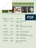 holy week schedule april 14 -- 21 2019