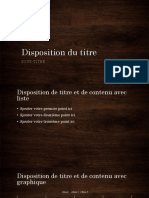 Disposition Du Titre