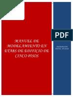 ETABS - Manual de Modelacion en Etabs de Edificio de Cinco Niveles Ana Julia Becerra Hernandez PDF