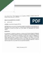 Respuesta del Gobierno de la Comunidad sobre homenaje a Don Mario García Benito