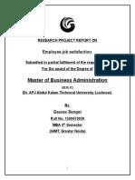EMPLOYEE JOB SATISFACTION IN NTPC HR.doc