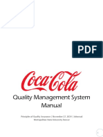 The Coca Cola Quality Management System...