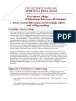 Writing in College Guide