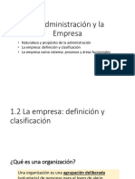 1.2. La Empresa - Definicion y Clasificacion