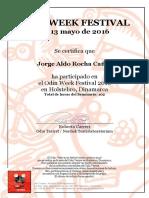 Jorge Aldo Rocha Cañas - Certificate OWF2016 mayo
