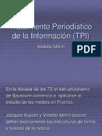 Clase Tratamiento Periodístico de La Información (TPI)
