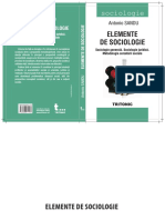 Elemente de Sociologie Generală