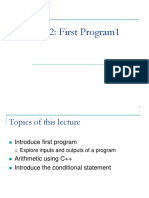 1 Week Lecture 2 First Program