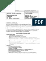 Programa Analitico Química General