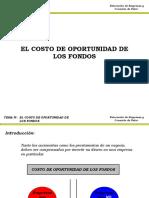 Tema V - El Costo de Oportunidad de los Fondos (B&W).ppt