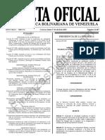 Gaceta Oficial 41607 Sumario