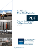 City of Edmonton audit - maintenance and storage yards