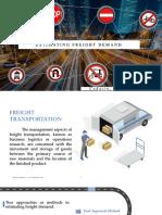 Estimating Freight Demand