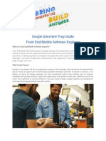 Google Interview Prep Frontend Mobile Engineer