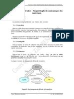 Chapitre i - Proprits Des Physico-mecaniques Et Chimiques Des Mteriaux