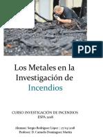 Los metales en la investigacion de incendio