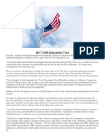 2017 USA Education Tour