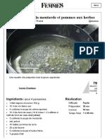 Recette de Filet mignon à la moutarde et pommes aux herbes  la recette facile.pdf