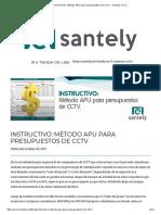 INSTRUCTIVO_ Método APU Para Presupuestos de CCTV - Santely S.a.S