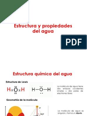 Agua Y Ph 325 Propiedades Del Agua Enlace De Hidrógeno