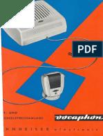 Vocaphon   owner manual + schematics