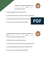 CUESTIONARIO RESONANCIA MAGNÉTICA