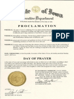 Day of Prayer for Flood Recovery