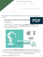 Servomotor Con Arduino Tutorial de Programación Paso a Paso